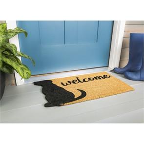 Dog Welcome Shaped Coir Mat