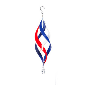 """22"""" Kinetic Hanging Spinner, Red-White-Blue"""