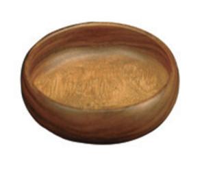 "Round Acacia wood dipping bowl, 4"" x 1.5"", K0009/4-Pacific Merchants"