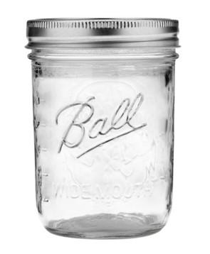 Ball Wide Mouth Mason Canning Jar, Pint