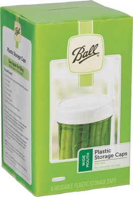 Ball Jar Storage Caps, Plastic, Wide Mouth 8-Pack