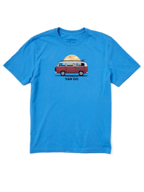 Men's Life is Good Van Go Crusher Tee