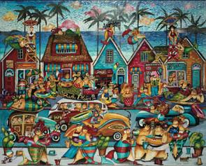 Bathtub Beach Artist Jennifer Garant Hart Puzzle
