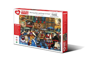 Raining Cats and Dogs in Paris Artist Jennifer Garant Hart Puzzle