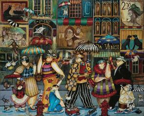 Raining Cats and Dogs in Paris Artist Jennifer Garant Hart Puzzle