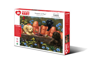 Puppies at Play Hart Puzzle By Bob Giordano
