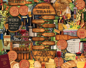 Wine Trail Hart Puzzle By Kate Ward Thacker