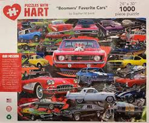 Boomers Favorite Cars Hart Puzzle