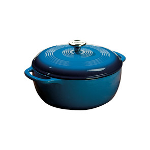 Lodge® 6 Quart Blue Enameled Cast Iron Dutch Oven