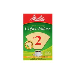 Melitta #2 Cone Filter Paper Natural Brown - 100 Count