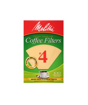 Melitta #4 Cone Filter Paper Natural Brown - 100 Count