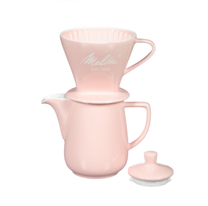 Melitta Heritage Series Porcelain Pour-Over Coffeemaker - Pastel Pink
