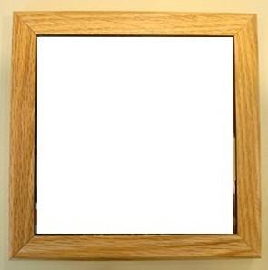 """Oak frame for 6"""" tile"""
