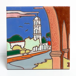Ojai Post Office Tower Tile