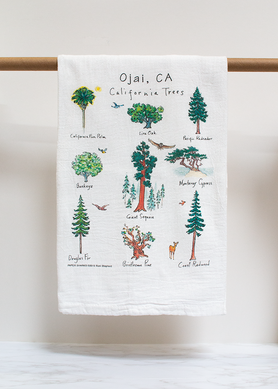 California Trees Flour Sack Towel
