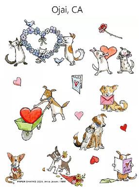 Puppy Love Flower Sack Towel