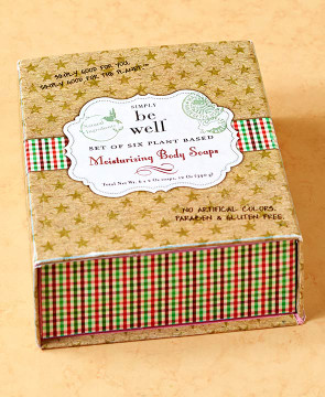 SIMPLY be well Moisturizing Body Soaps-Gift Box-set of 6