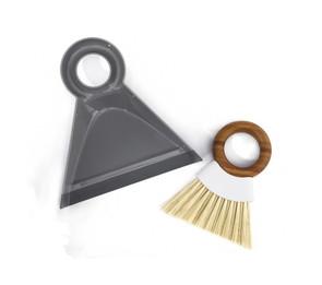 Full Circle Brands Mini Brush & Dustpan Set White/Grey