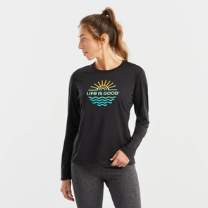 Women's Life is Good Sun & Sea Long Sleeve Active Tee