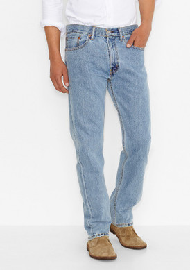 Men's Levi's 505-4834 Regular Fit Jeans-Light Stonewash