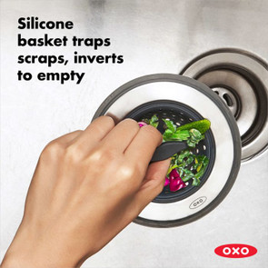 OXO Good Grips 2-in-1 Silicone Sink Strainer with Stopper