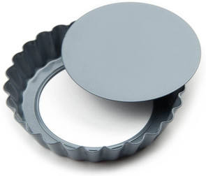 Single Mini Loose Bottom Tart/Quiche Pan  Non-Stick 4-Inch
