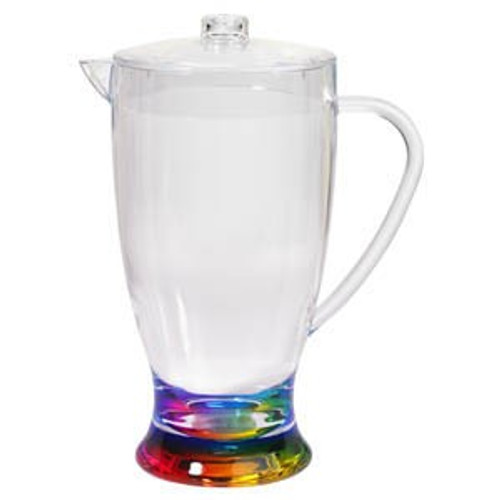 Rainbow Teardrop Acrylic Pitcher - 2.5qt