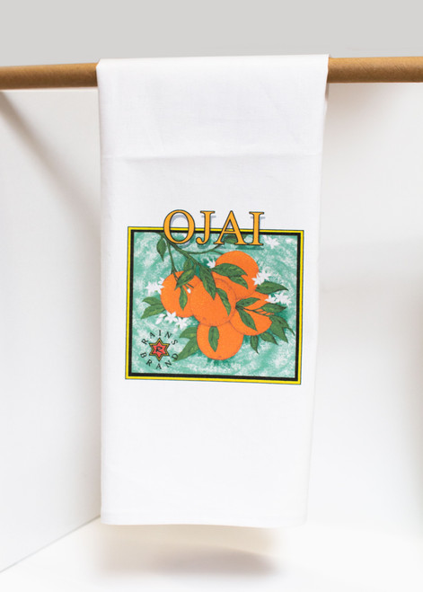 Ojai Orange Tea Towel