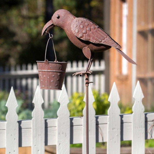 Park Hill Collection Crow Bird Feeder - Stake