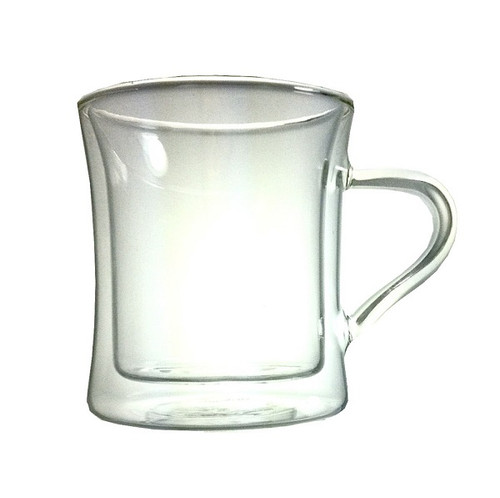 Diner Style Double Wall Glass Coffee Mug, W1050-Highwave