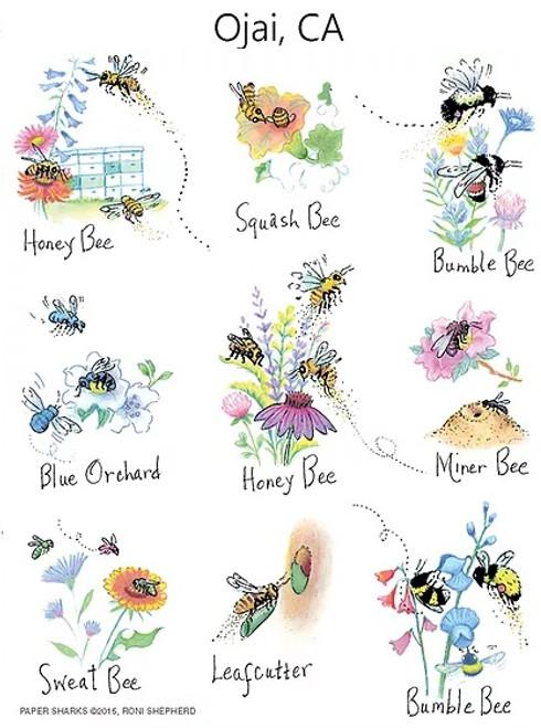 Nature Bees Flour Sack Towel RS154