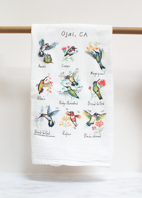 Hummingbird Flour Sack Towel RS155
