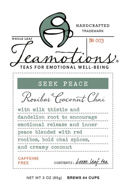 Seek Peace Rooibos Coconut Chai (caffeine free)
