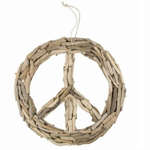 Beachcomber Driftwood Peace Sign