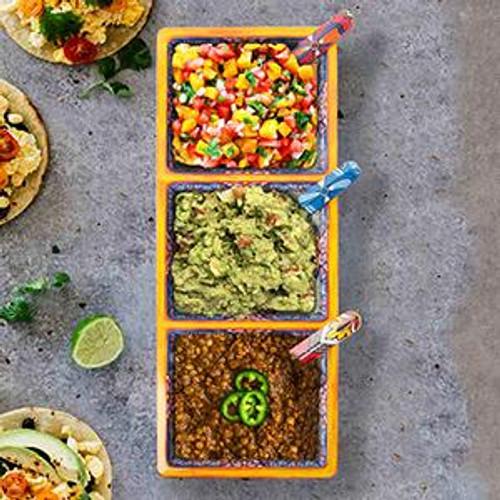 Taco 3 Selection Tray Yellow