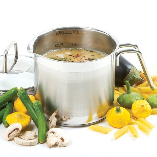 8 Cup Stainless Steel Multi-Pot With Straining Lid