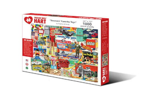 Boomers' Favorite Toys Artist Stephen M. Smith Hart Puzzle