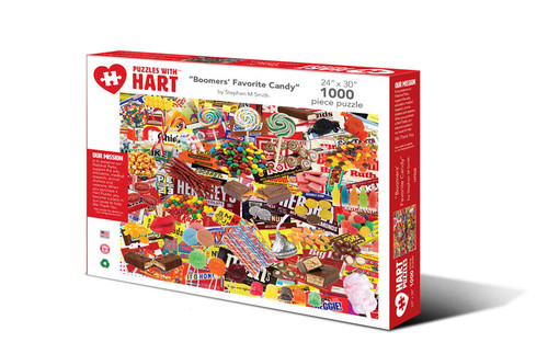 Boomers Favorite Candy Hart Puzzle By Stephen M. Smith
