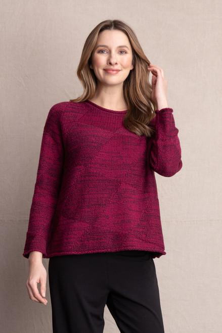 Women's Habitat Essential Cotton Diamond Jacquard Sweater