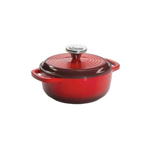 Lodge® 1.5 Quart Red Enameled Cast Iron Dutch Oven