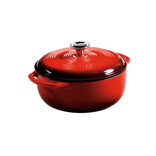 Lodge® 4.5 Quart Red Enameled Cast Iron Dutch Oven