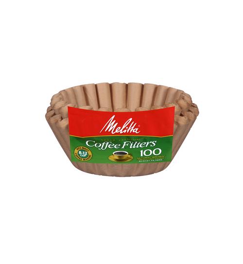 Melitta 8-12 Cup Basket Filter Paper Natural Brown - 100 Count