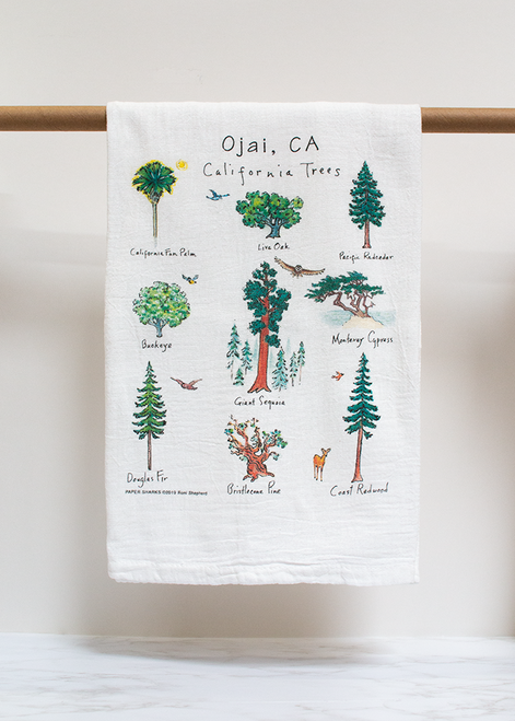 California Trees Flour Sack Towel