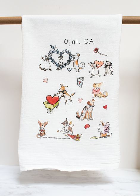 Puppy Love Flour Sack Towel