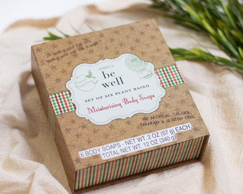 Simply Be Well - Moisturizing Body Soaps Gift Box, Set of 6