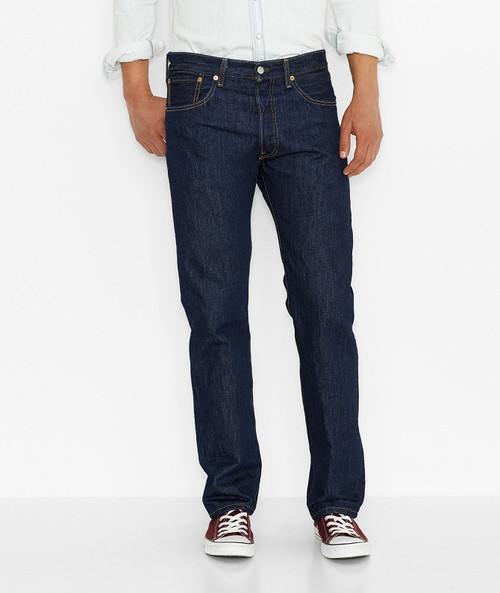 Men's Levi's 501-0115 Original Fit Jeans-Rinse