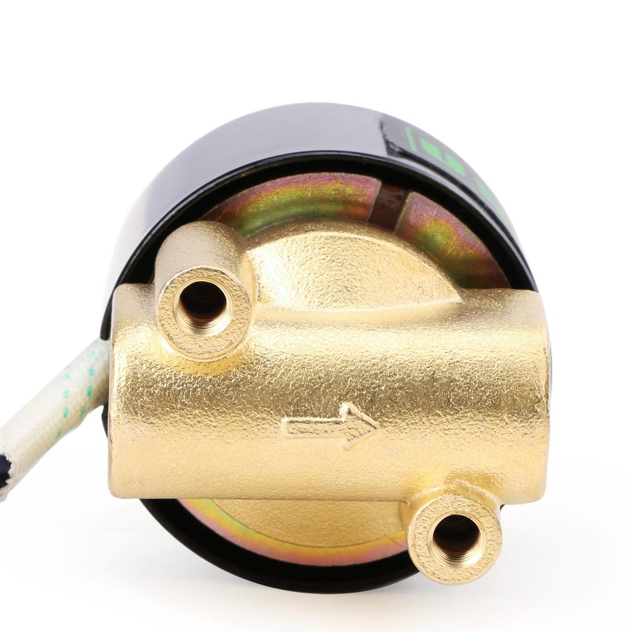 """Elektrisches Magnetventil- 1/4 """" Messing, 12 V DC, Normalerweise Geschlossen, VITON"""