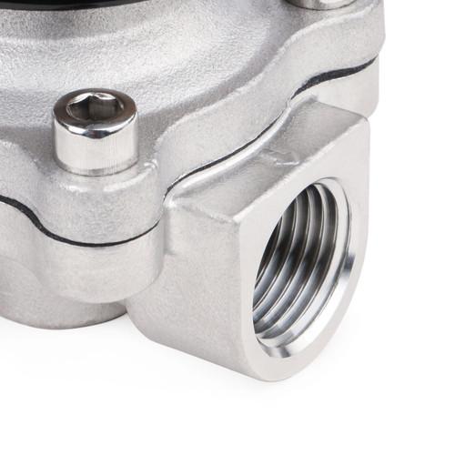 """Elektrisches Magnetventil- 1/2"""" Rostfreier Stahl 24V DC Normalerweise Geschlossen, VITON"""