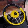 "Steering Wheel, Aviator 4, Yellow Grip/Black Spokes, 13"" Diameter"