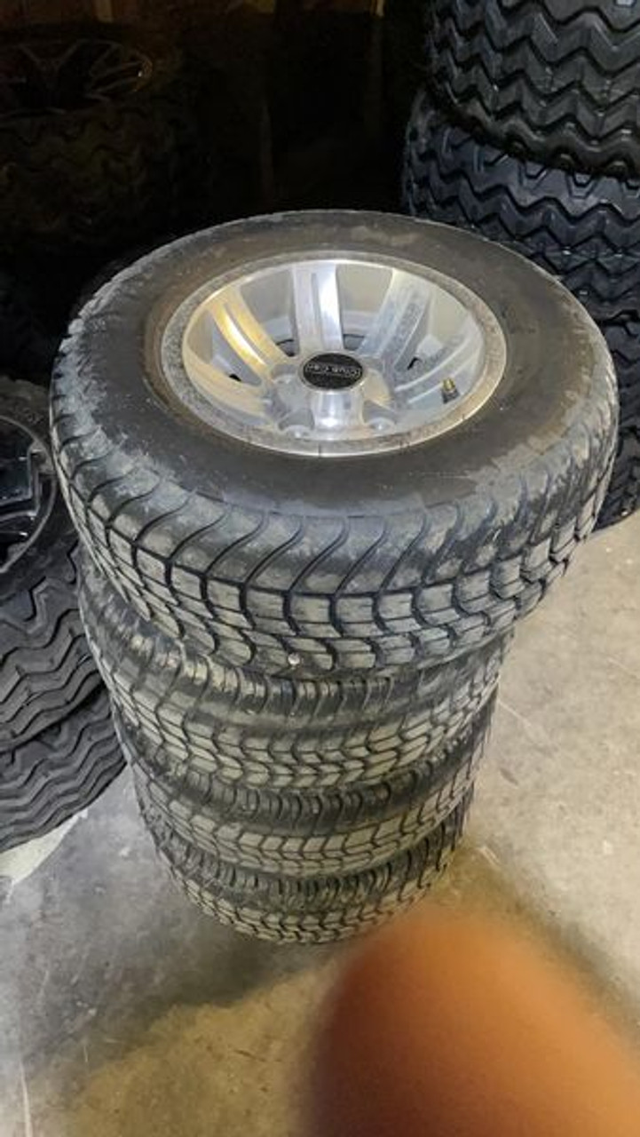 """SCRATCH & DENT SET OF 4 10"""" USED CLUB CAR WHEELS WITH OR WITHOUT TIRES - TAKE OFFS"""
